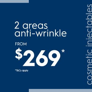2 areas of anti-wrinkle from $269