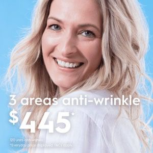 anti-wrinkle injections 3 areas
